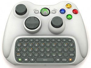 XBox 360 controller with Chatpad.